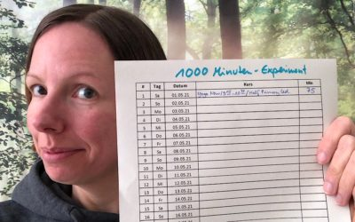 Gewohnheiten entwickeln mit dem 1000 Minuten Experiment